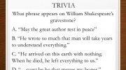 Literature Trivia