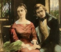 Image shows Dorothea and Will Ladislaw, from George Eliot's Middlemarch.