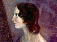 Image shows Emily Brontë in a painting by her brother, Bramwell.