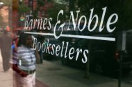 NEW YORK - JUNE 28: People walk by a Barnes & Noble store, the New York-based bookseller, on June 28, 2010 in the Brooklyn borough of New York. Following the close of the market on June 28, Barnes & Noble Inc. is scheduled to release its fiscal fourth-quarter 2010 financial results. Analysts are expecting a drop in the company's share price, partly due to its poor sales of the Nook e-reader. (Photo by Spencer Platt/Getty Images)