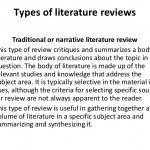 Types of literature reviews