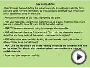 AQA A English Literature Exam: How to answer the