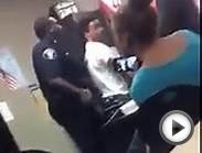 Cop and Student Fight in the Classroom