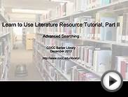 Learn to Use Literature Resource Center, Part 2